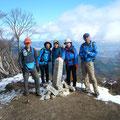 釈迦ケ岳頂上。