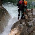 滝から上部へ I。