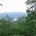 小原峠から白山を望む