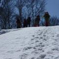 高倉山頂上手前稜線・・