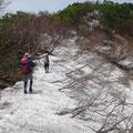 たくさんの残雪。