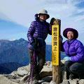 唐松山頂で。「最高やね!」