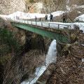 小嵐の滝の 橋を下山中 (全員)