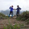 白山釈迦岳前峰にて。