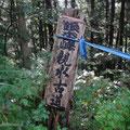親水コース、中島からの登山口