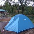 夜には満点の星を眺め、快適なテント泊でした。