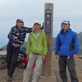 旭岳頂上にて  天気下り坂