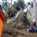 飯道神社奥の巨岩。