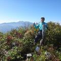 登って来ました笈ケ岳。(バックは白山)