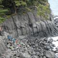 城ヶ崎クライミングサイトは海岸沿い。