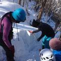 雪質・弱層テスト。