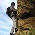 Départ de L5 (6b) pour Robert Mandin, notre collègue guide.