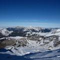 Vue sur Avoriaz au col avant le sommet