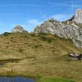 Sieste aux Crosets, coté suisse, Sous le Mont Gardy