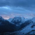Le Mont Collon et sa face nord qui fait peur au lever du jour