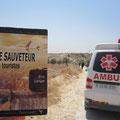 Le Sauveteur' à Bil'in, en Cisjordanie (2/2). Merci à Clem.