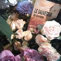 Une composition florale originale. Merci à Julie-Pomme.