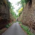 Hohlweg hinter Viterbo