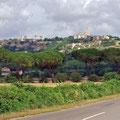 Blick zurück auf Tarquinia
