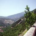 herrliche Panoramastraße bei Lama