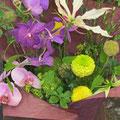 *友人たちから頂きましたお花かご。感謝しながら受付にありがたく置かせてもらいました。会場に合う素敵な色合い*…