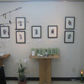 *'09河北新報【河北歌壇俳壇】に掲載された木版手彩19作品も展示しました。