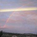 *用事ありで1泊仙台戻り。帰る新幹線の窓外にきれいな虹のアーチ。展示後半も嬉しいこと多々ありますように…*