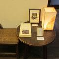 *手づくり絵本コーナー。盛久さんの素敵な民芸調家具で、絵本をゆったり楽しんでもらいました。