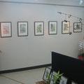 *水彩画作品エリアには<ことりのいる庭-東北>全6点を展示。