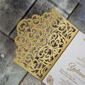 Lasercut Pocketfold Karte #LPFC2134 Metallic Gold - Standardfarbe -