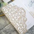 Lasercut Pocketfold Karte #LPFC2135 Standardfarbe Ivory Shimmer