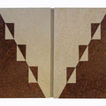 """REF. 245   """"PIEZA ÚNICA"""" dos puertas con cuelga llaves interior. Chapado en erable y raíz de nogal. Medidas interiores 50 x 32,5 x 4 cm. exteriores 53,5 x 40 x 5,5 cm. DISPONIBLE 95 €. Gastos de envío incluidos"""