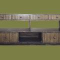 REF 1004 MUEBLE DE LAVABO RUSTICO EN PINO MACIZO COLOR NOGAL medidas 180 X 85 X 60 cm. DISPONIBLE POR ENCARGO Y A MEDIDA