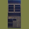 REF. 1020 MUEBLE ALACENA PINO MACIZO RUSTICO COLOR  NOGAL    medidas  220 X 100 x 30 cm.    DISPONIBLE POR ENCARGO Y A MEDIDA