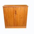 Ref. 612 Zapatero o mueble de entrada. Pino macizo teñido color cerezo.