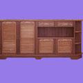 REF. 526 CUBRE RADIADOR Y ENTRADA CHAPA DE NOGAL AMERICANO CON MARQUETERIA, MOLDURAS Y LAMAS EN ROBLE MACIZO  medidas  200 X 90 cm.  DISPONIBLE POR ENCARGO Y A MEDIDA