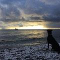 Ein Schiff wird kommen ... Taiga bei Sonnenaufgang im ersten Schnee – Piratenschlucht im Nationalpark-Jasmund