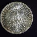 Silbermünze Kaiserreich Drei Mark