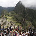 Susan sarandon posando en Machu Picchu