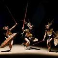 Borneo Longhouse warriors