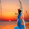 Flamenco y luna