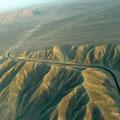 Vista desde el aire de las pampas de Nazca
