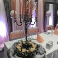 Kerzenständer, Brautpaartisch