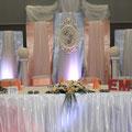 Brautpaartisch, Hintergrund, Kerzenständer
