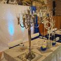 Brautpaartisch, Kerzenständer