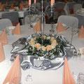 Blumengestecke, Tischdekoration