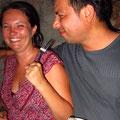 Kathrin und Bosco haben ein sehr ähem inniges und herzliches Verhältnis :)