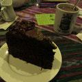 Schokokuchen und heiße Schokolade!!! Yummy!!!