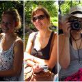 von links Leonie, Adelheid und Hanna (Hanna arbeitet mit mir im Büro)