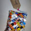 eine der tollen Taschen die das Projekt ANIDES in Zusammenarbeit mit den Kindern aus Recycling-Materialien herstellt